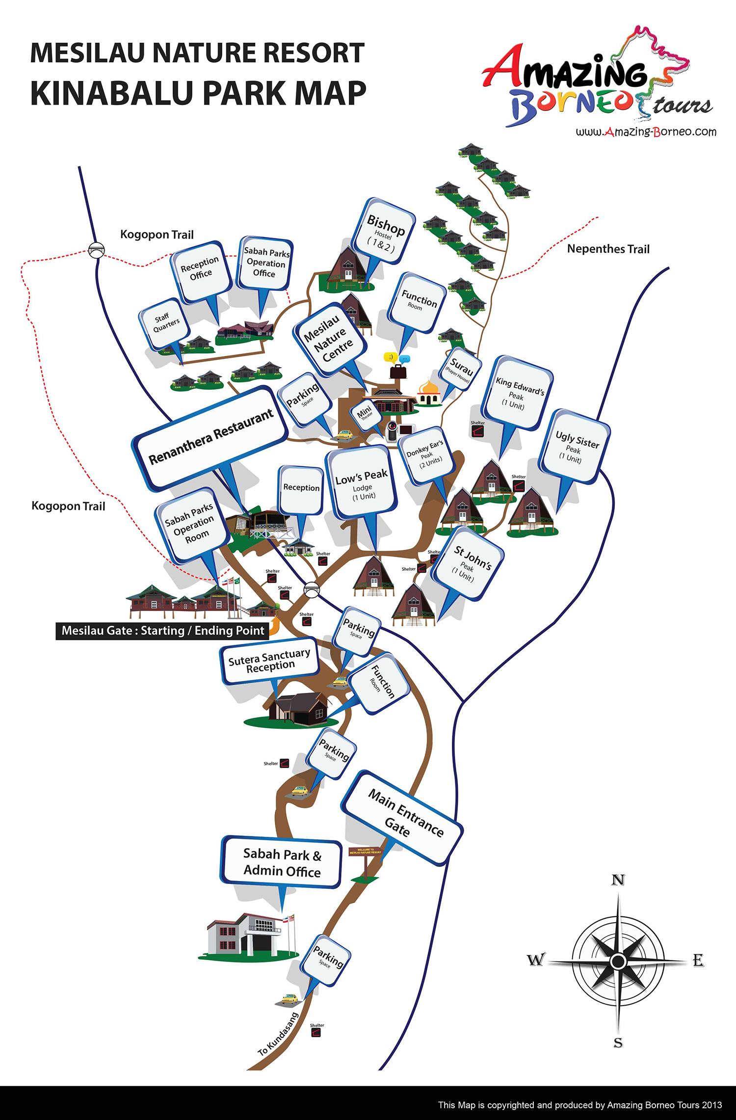 实用地图 - 爱沙巴旅游
